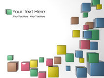 Modern background. 3d modern color cube background Stock Image