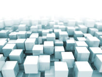 Modern background 3D cubes Royalty Free Stock Photo