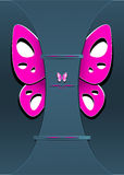 Modern Background with decorate butterfly Royalty Free Stock Photo