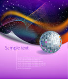 Modern background with disco ball Stock Images