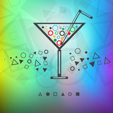 Modern background drink Stock Image