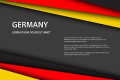 Modern background with German colors. And grey free space for your text, Made in Germany, vector overlayed sheets of paper in the look of the German flag vector illustration