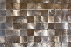 Modern Background Of Metal Pieces And A Black Outline. Macro Shooting Royalty Free Stock Photography