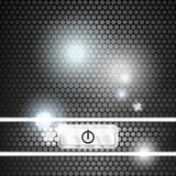 Modern background with power button Royalty Free Stock Photography