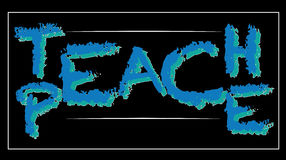Modern background. Teach Peace  illustration - illusion message Royalty Free Stock Images