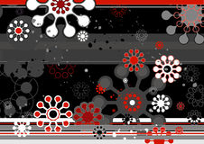 Modern background,vector. Modern background with red and black shapes,vector illustration Stock Photos