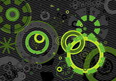 Modern background,vector. Modern background with green and black shapes,vector illustration Stock Photo