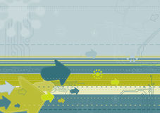 Modern  background,vector. Grunge background with many different simbols,vector illustration Stock Photo