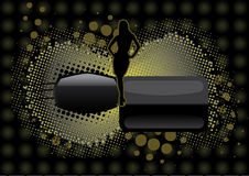 Modern background with a woman shape Stock Images