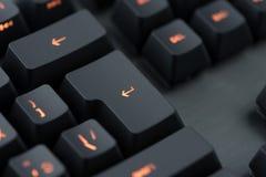 Modern backlit keyboard macro Stock Image