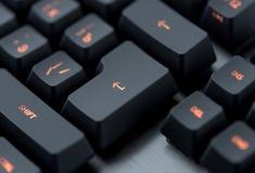 Modern backlit keyboard macro Royalty Free Stock Image