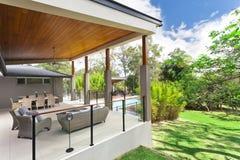 Modern backyard Stock Image