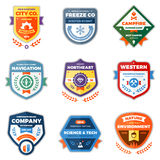 Modern badge graphics. Set of clean modern badges and award graphics Stock Photography