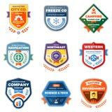 Modern badge graphics Stock Photography