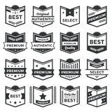 Modern Badge Shields and Label Collection Royalty Free Stock Photo