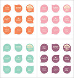 Modern badges collection. Modern badges and labels collection Royalty Free Stock Images