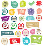 Modern badges colorful collection. Modern badges and stickers colorful set vector illustration