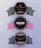 Modern badges Stock Images