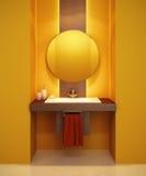 Modern badkamersbinnenland stock illustratie