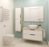 Modern badkamersbinnenland. Stock Afbeeldingen