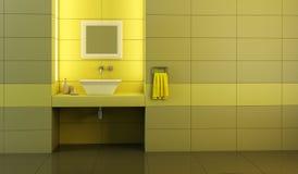 Modern badkamersbinnenland vector illustratie