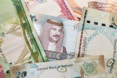 Modern Bahrain Dinars Banknotes Stock Photography