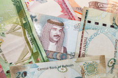 Modern Bahrain dinars banknotes Stock Photography