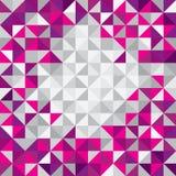 Modern bakgrund för fyrkantig triangel. Trianglar i olika färger. Royaltyfria Bilder