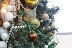 Modern bakgrund för garnering för julträd Royaltyfria Foton