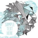 Modern bakgrund för geometrisk modell med stället för din text stock illustrationer