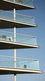 Modern Balconies. Balconies to modern block of apartments Royalty Free Stock Photos