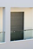 Modern Balcony. Detail of a modern 2nd floor balcony of a new building royalty free stock photo