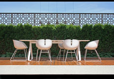 Modern balcony. Royalty Free Stock Image
