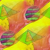 Modern ball seamless watercolor artist wallpaper texture of hand Stock Images