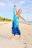 Modern ballerina on beach Royalty Free Stock Images