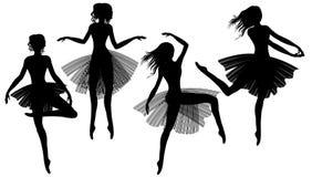 Modern ballet. Set of woman dancing modern ballet Royalty Free Stock Image