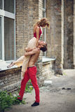 Modern ballet couple Royalty Free Stock Photo