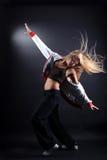 Modern ballet dancer. Yong woman modern ballet dancer royalty free stock photo