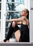 Modern ballet dancer. Attractive woman - modern ballet dancer stock photography