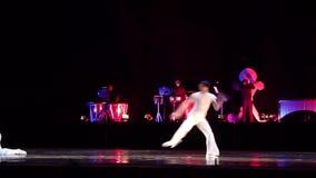 Modern ballet Degage stock video