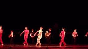 Modern ballet Degage stock footage