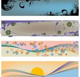 modern banertitelrad royaltyfri illustrationer