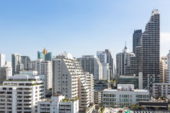 Modern Bangkok. An high density residential area along Sukhumvit road, the heart of modern Bangkok royalty free stock images