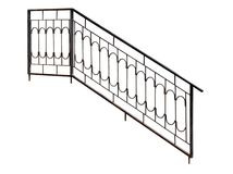 Modern  banisters, railing. Royalty Free Stock Photography