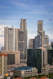 Modern banks and office buildings - Singapore. Singapore, 06 Feb 2016: Close up of banks and commercial office buildings Stock Photo
