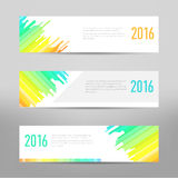 Modern banner - business banner - flyer design.  Vector Layout template. Design colored abstract banners template Stock Images
