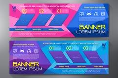 Modern Banner Business Design Template Background. Stock Photos