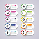 Modern banner button with icons. Vector illustration Stock Images