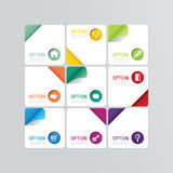 Modern banner button with social icon design options. Vector ill Royalty Free Stock Photography