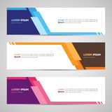 Modern Banner Design. Banner Backdrop Background Header Footer W royalty free illustration